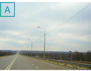 Дорожное ограждение и опоры освещения на реконструкции автодороги, г. Коноша