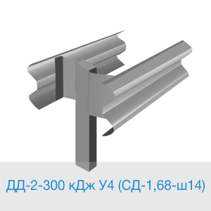 11ДД-2-300 кДЖ У4 (СД-1,68-ш14) двустороннее дорожное ограждение