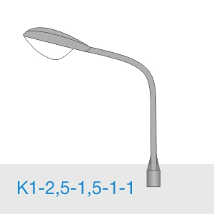 К1-2,5-1,5-1-1 консольный однорожковый кронштейн