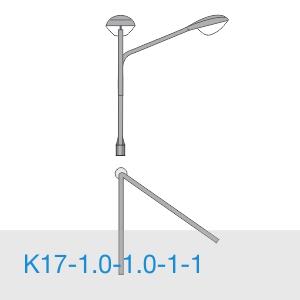 К17-1,0-1,0-1-1 консольный двухрожковый кронштейн
