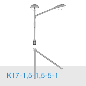 К17-1,5-1,5-5-1 консольный двухрожковый кронштейн