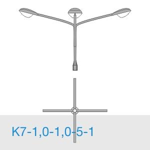 К7-1,0-1,0-5-1 консольный четырехрожковый кронштейн
