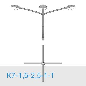 К7-1,5-2,5-1-1 консольный четырехрожковый кронштейн