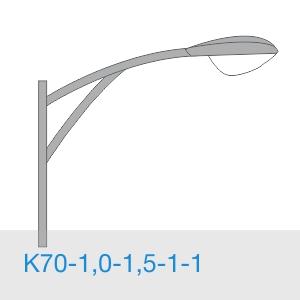 К70-1,0-1,5-1-1 консольный однорожковый кронштейн