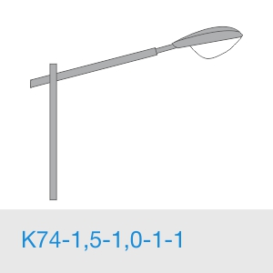 К74-1,5-1,0-1-1 консольный однорожковый кронштейн