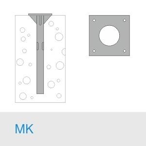 Фундамент МК 700(600)+М30×1000/10