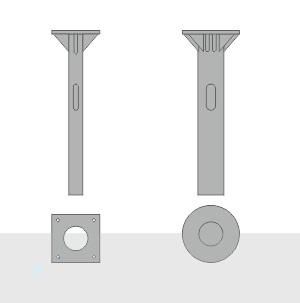 Закладной фундамент ЗФ-20/8/Д360-2,5-б