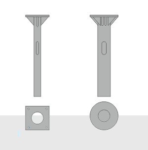 Закладной фундамент ЗФ-30/8/Д540-3,0-б